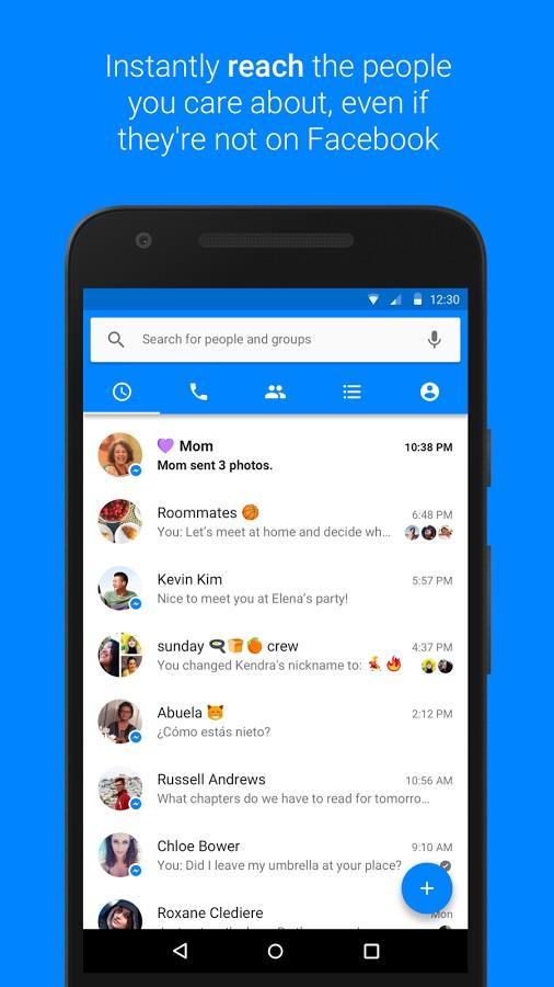 Скачать Messenger на Андроид бесплатно