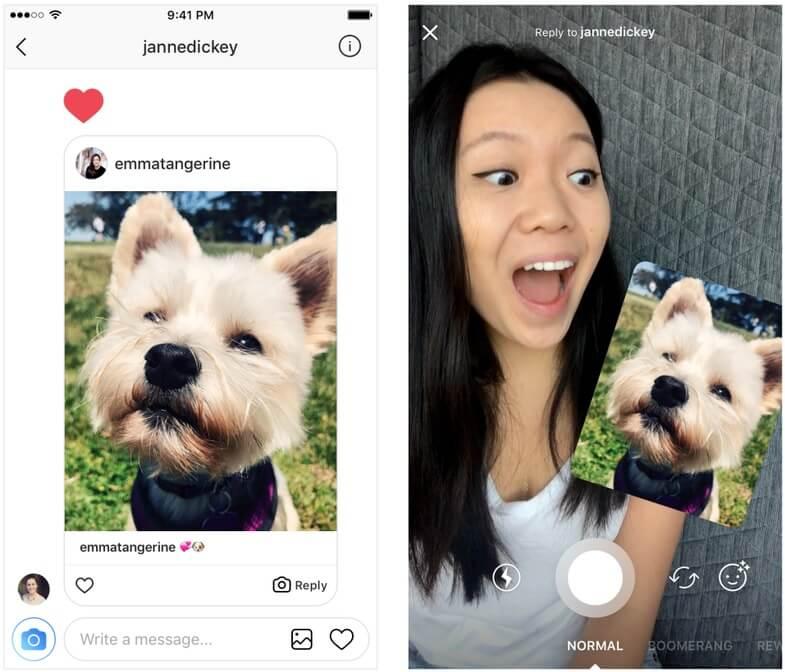 Креативный ответ с Instagram