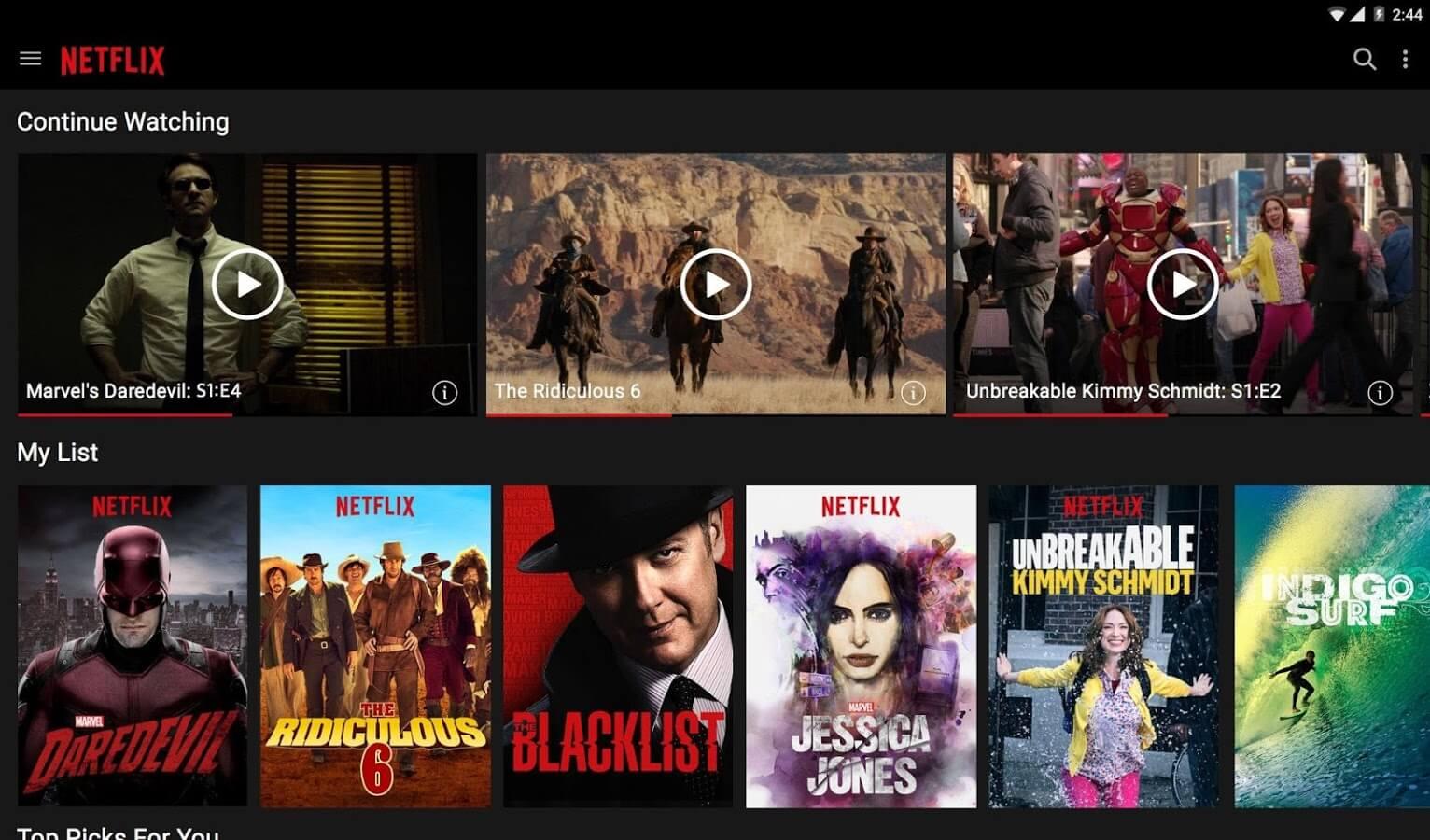 Скачать Netflix на Андроид смартфоны и планшеты