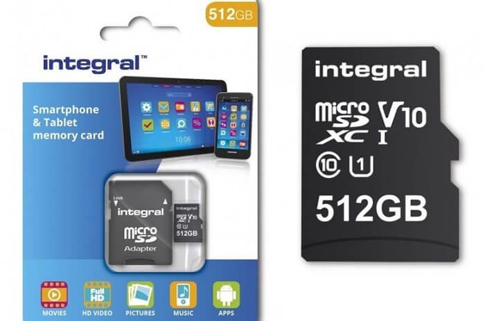 Появилась первая в мире карта microSD на 512 ГБ