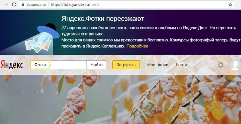 «Яндекс.Фотки» закроется и переедет на «Яндекс.Диск»