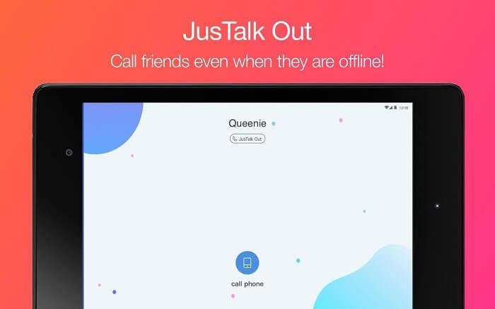 Скачать JusTalk на Андроид
