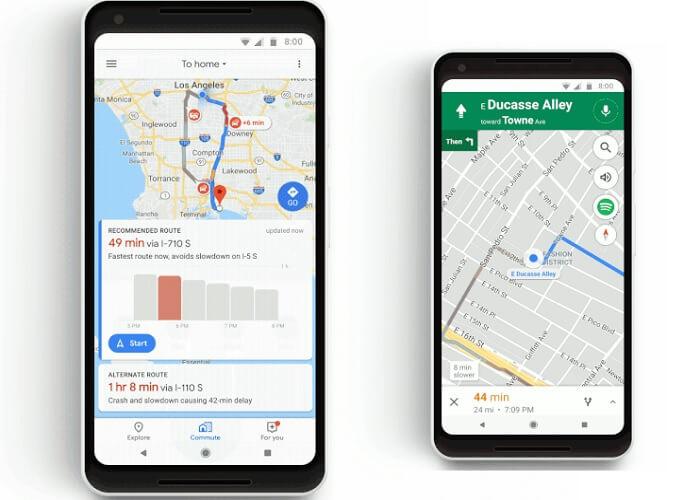 Новый функционал в Google Картах