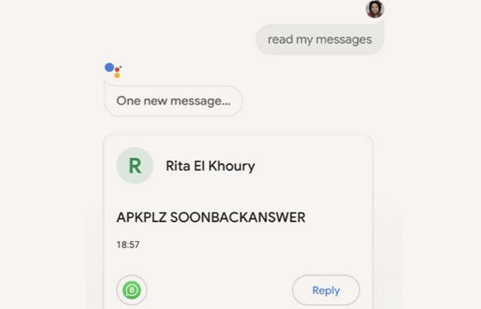 Ответить в WhatsApp можно через Google Assistant