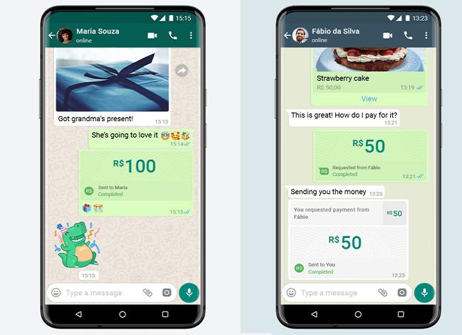 В WhatsApp включили денежные переводы