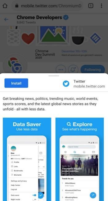Как установить веб-приложение через Chrome